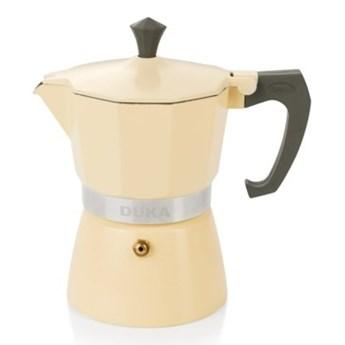 Kawiarka ciśnieniowa na 3 filiżanki DUKA TRYCK kremowa aluminium