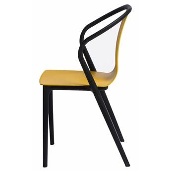 SELSEY Krzesło Bella żółte