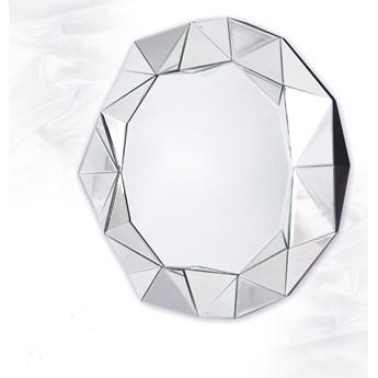 Lustro  okrągłe w ramie z luster Blanka 80' glamur