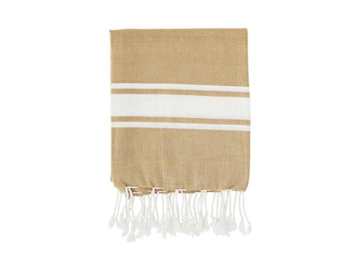 Madam Stoltz - Ręcznik kąpielowy Striped 100x180 cm Bawełna Kategoria Ręczniki Kolor Beżowy