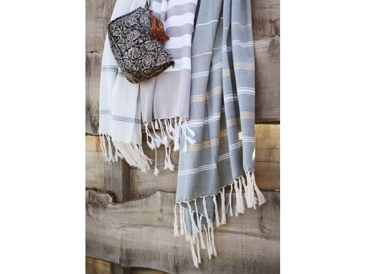Madam Stoltz - Ręcznik kąpielowy Striped 100x180 cm Kategoria Ręczniki Bawełna Kolor Szary