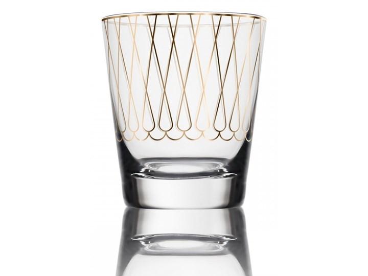 Świecznik na tealight First Gold 001, proj. M. Młoczkowski, VOLA Szkło Ceramika Kolor Złoty