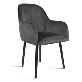Bettso Krzesło tapicerowane BESSO ciemny szary / PA06