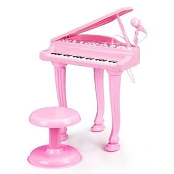 Fortepian, keyboard z mikrofonem mp3 Różowy Multistore