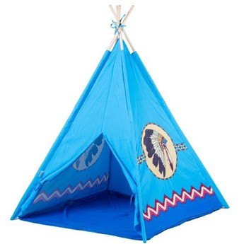 Namiot Tipi Wigwam dla dzieci Niebieski Ecotoys