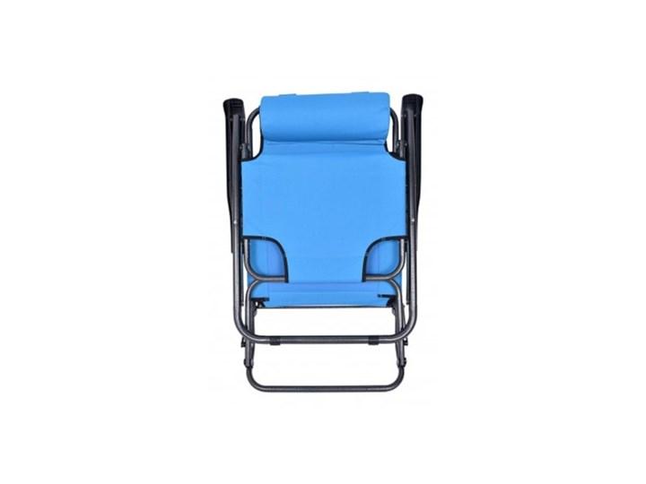 Fotel Leżak ogrodowy LEON JASNO NIEBIESKI Składane Metal Kategoria Leżaki ogrodowe Styl Minimalistyczny