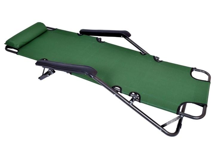 Fotel Leżak ogrodowy LEON ZIELONY Kategoria Leżaki ogrodowe Metal Składane Styl Minimalistyczny