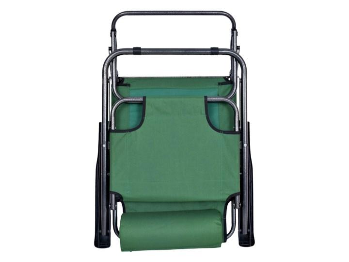 Fotel Leżak ogrodowy LEON ZIELONY Składane Kategoria Leżaki ogrodowe Metal Styl Minimalistyczny
