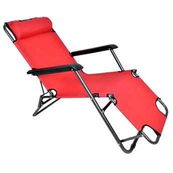 Fotel Leżak ogrodowy LEON CZERWONY