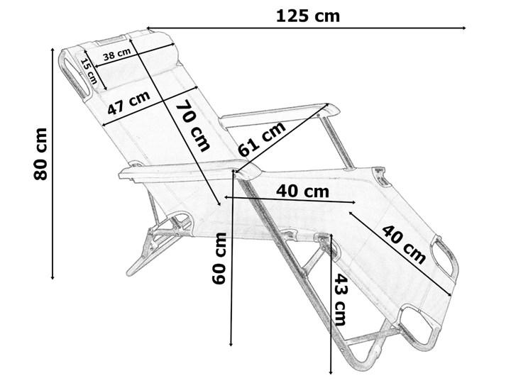 Fotel Leżak ogrodowy LEON CZERWONY Składane Metal Kategoria Leżaki ogrodowe