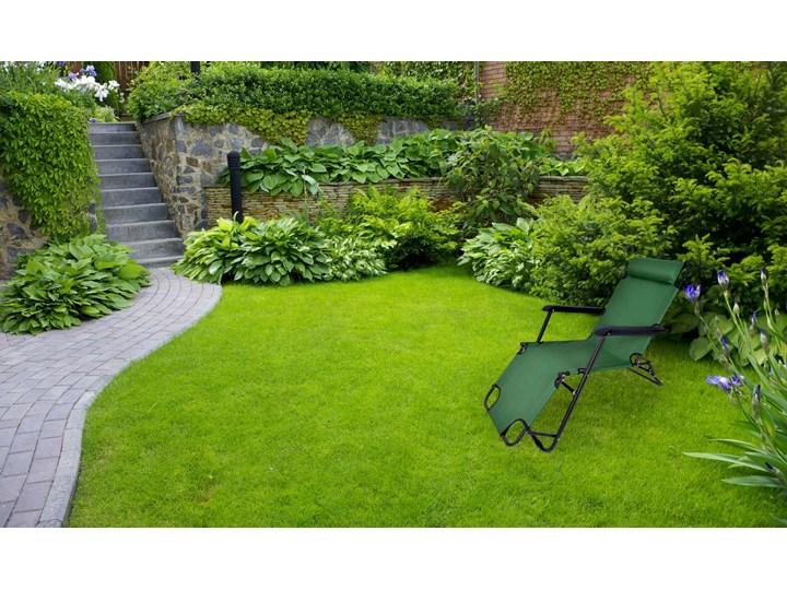 Fotel Leżak ogrodowy LEON ZIELONY Składane Metal Kategoria Leżaki ogrodowe