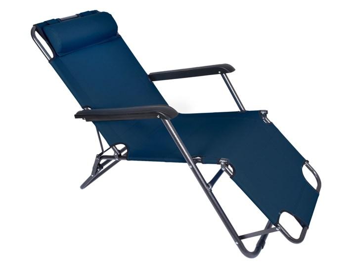Fotel Leżak ogrodowy LEON GRANATOWY Składane Metal Kategoria Leżaki ogrodowe Styl Minimalistyczny