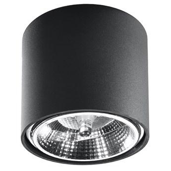Czarny industrialny plafon LED tuba - EX655-Tiubo