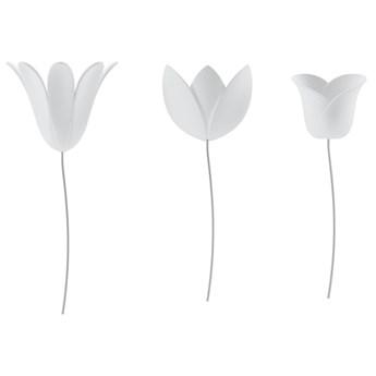 dekoracja ścienna kwiaty 9szt BLOOMER biała UMBRA