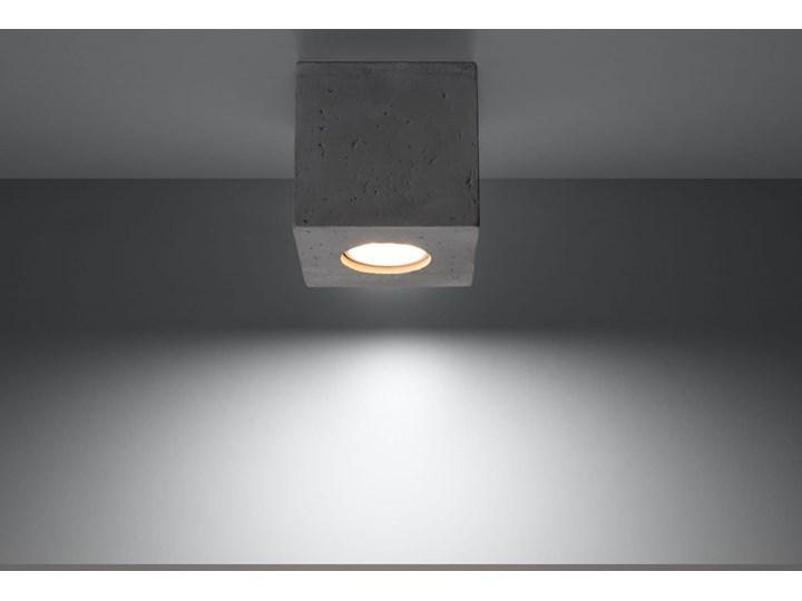 Sollux Lampa PLAFON QUAD 1 BETON Oprawa na Sufit Szary Kwadrat LEd Gu10 Oprawa stropowa Oprawa led Kwadratowe Oprawa halogenowa Kategoria Oprawy oświetleniowe