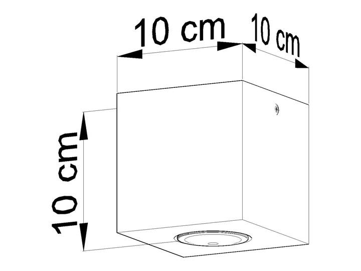 Sollux Lampa PLAFON QUAD 1 BETON Oprawa na Sufit Szary Kwadrat LEd Gu10 Oprawa stropowa Kwadratowe Oprawa led Oprawa halogenowa Kategoria Oprawy oświetleniowe