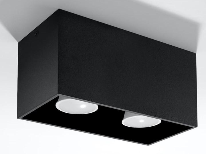 SOLLUX Nowoczesna Lampa Sufitowa Plafon QUAD MAXI Czarny Prostokątne Oświetlenie Oprawa halogenowa Oprawa led Oprawa stropowa Kategoria Oprawy oświetleniowe