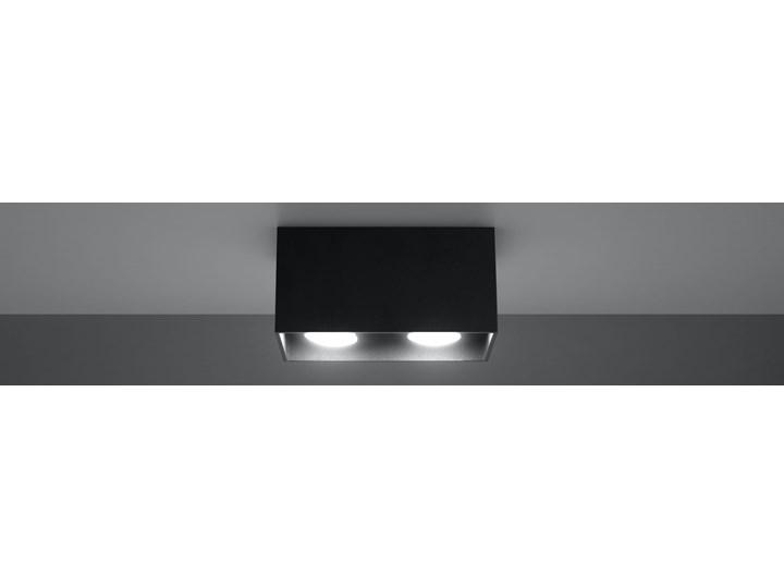 SOLLUX Nowoczesna Lampa Sufitowa Plafon QUAD MAXI Czarny Prostokątne Oświetlenie