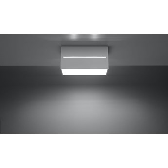 SOLLUX Gustowna Lampa Plafon LOBO MAXI Biały Oświetlenie Sufitowe OprawaProstokąt