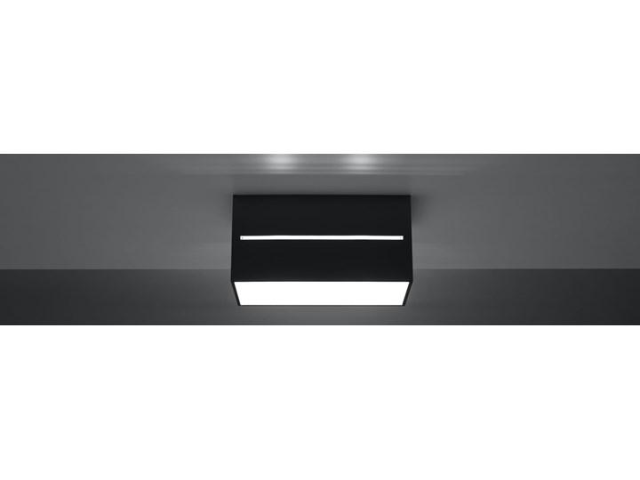 SOLLUX Stylowa Lampa Prostokątna Plafon LOBO MAXI Czarny Sufitowe Oświetlenie Prostokątne Oprawa led Oprawa stropowa Oprawa halogenowa Kategoria Oprawy oświetleniowe