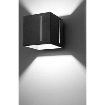 SOLLUX Stylowy Kinkiet PIXAR Czarny Lampa na Ścianę Kwadratowa Nowość