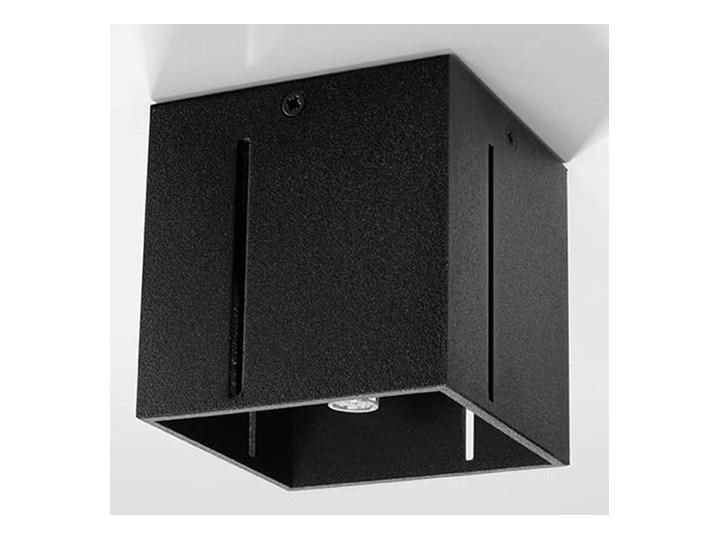 SOLLUX Nowoczesny Plafon PIXAR Czarny Lampa  Kwadratowa na Sufit Oświetlenie Nowość Kwadratowe Oprawa halogenowa Oprawa stropowa Kategoria Oprawy oświetleniowe