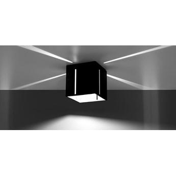 SOLLUX Nowoczesny Plafon z liniowym prześwitem PIXAR Czarny Lampa  Kwadratowa na Sufit