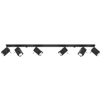 SOLLUX Nowoczesna Listwa Sufitowa MERIDA 6L Czarny Regulowane Kwadraty LED
