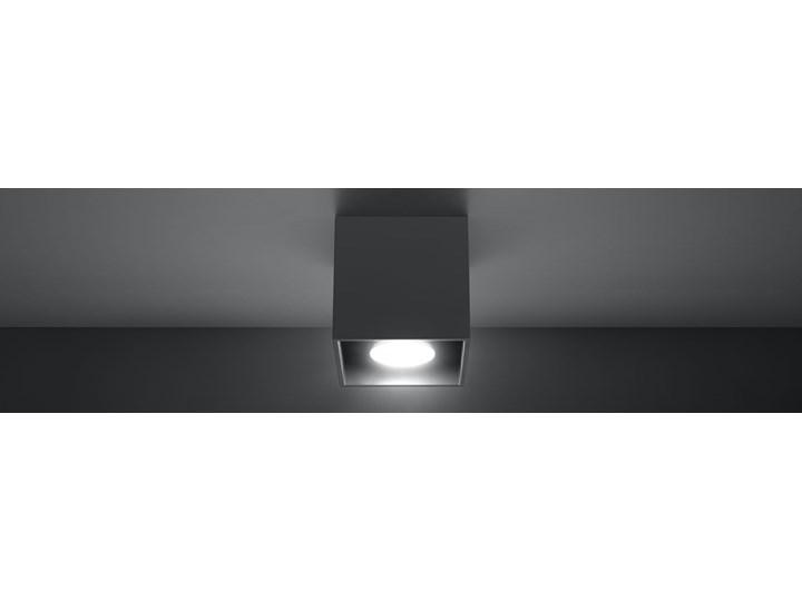 SOLLUX Nowoczesna Lampa Plafon QUAD 1 Antracyt Oświetlenie Sufitowe Oprawa halogenowa Oprawa stropowa Kwadratowe Kategoria Oprawy oświetleniowe