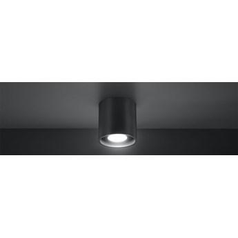 SOLLUX Gustowne Oświetlenie Plafon ORBIS  1 Antracyt Lampa Walec na Sufit LED