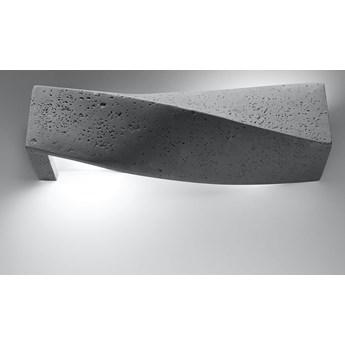 Oryginalny ciekawy kształt Kinkiet SIGMA beton Lampa kolor szary na ścianę Idealna do salonu,  sypialni, korytarza Oprawa żarówka E27 Oświetlenie SOLLUX