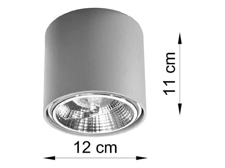 Nowoczesny Plafon TIUBE szary Lampa aluminium okrągła na sufit Idealna do salonu,  sypialni, korytarza Oprawa sufitowa żarówka GU10 Oświetlenie SOLLUX Oprawa halogenowa Oprawa led Okrągłe Oprawa stropowa Kategoria Oprawy oświetleniowe