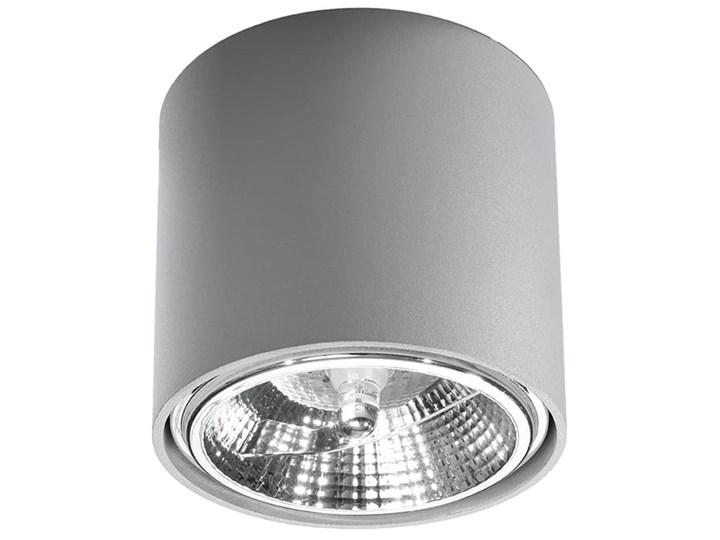 Nowoczesny Plafon TIUBE szary Lampa aluminium okrągła na sufit Idealna do salonu, sypialni, korytarza Oprawa sufitowa żarówka GU10 Oświetlenie SOLLUX