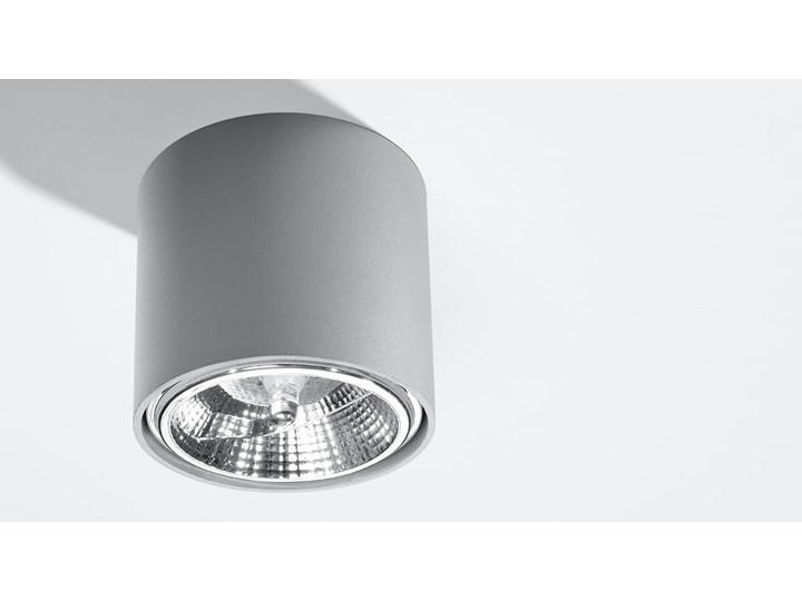 Nowoczesny Plafon TIUBE szary Lampa aluminium okrągła na sufit Idealna do salonu,  sypialni, korytarza Oprawa sufitowa żarówka GU10 Oświetlenie SOLLUX Oprawa led Oprawa stropowa Oprawa halogenowa Okrągłe Kategoria Oprawy oświetleniowe