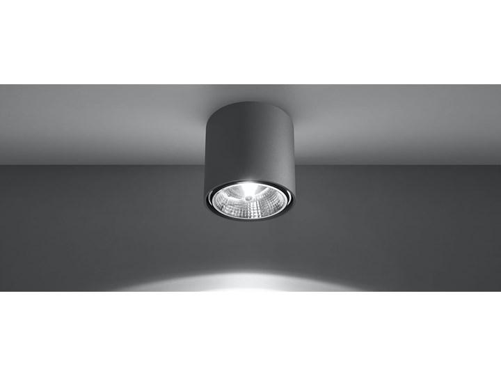 Nowoczesny Plafon TIUBE szary Lampa aluminium okrągła na sufit Idealna do salonu,  sypialni, korytarza Oprawa sufitowa żarówka GU10 Oświetlenie SOLLUX Oprawa led Oprawa halogenowa Oprawa stropowa Okrągłe Kategoria Oprawy oświetleniowe