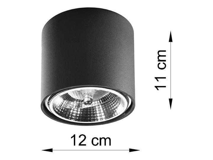 Nowoczesny Plafon TIUBE czarny Lampa aluminium okrągła na sufit Idealna do salonu,  sypialni, korytarza Oprawa sufitowa żarówka GU10 Oświetlenie SOLLUX Oprawa stropowa Oprawa led Oprawa halogenowa Okrągłe Kategoria Oprawy oświetleniowe