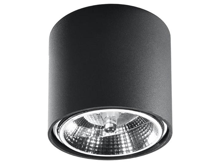 Nowoczesny Plafon TIUBE czarny Lampa aluminium okrągła na sufit Idealna do salonu, sypialni, korytarza Oprawa sufitowa żarówka GU10 Oświetlenie SOLLUX