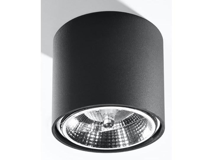 Nowoczesny Plafon TIUBE czarny Lampa aluminium okrągła na sufit Idealna do salonu,  sypialni, korytarza Oprawa sufitowa żarówka GU10 Oświetlenie SOLLUX Oprawa halogenowa Oprawa led Okrągłe Oprawa stropowa Kategoria Oprawy oświetleniowe