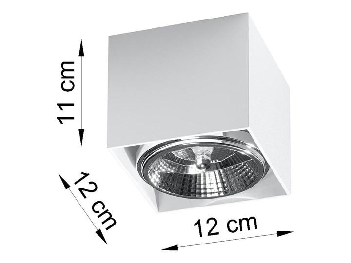 Minimalistyczny Plafon BLAKE biały Lampa aluminium kwadrat na sufit Idealna do salonu,  sypialni, korytarza Oprawa sufitowa żarówka GU10 Oświetlenie SOLLUX Kwadratowe Oprawa stropowa Oprawa halogenowa Oprawa led Kategoria Oprawy oświetleniowe