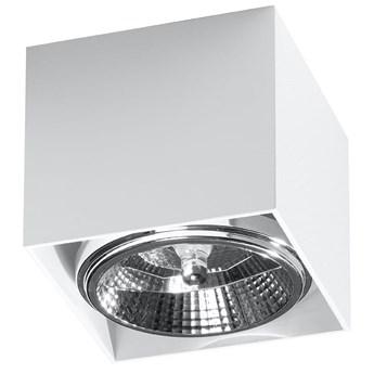Minimalistyczny Plafon BLAKE biały Lampa aluminium kwadrat na sufit Idealna do salonu,  sypialni, korytarza Oprawa sufitowa żarówka GU10 Oświetlenie SOLLUX