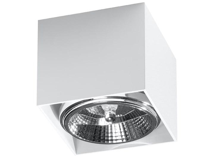 Minimalistyczny Plafon BLAKE biały Lampa aluminium kwadrat na sufit Idealna do salonu, sypialni, ko ...