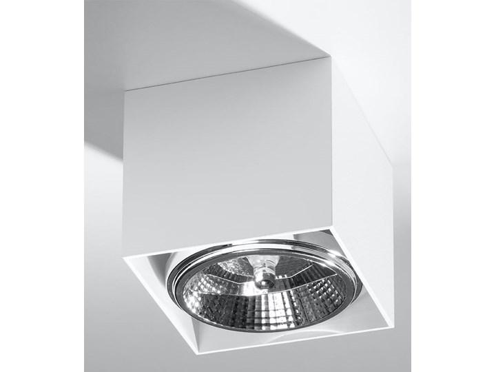 Minimalistyczny Plafon BLAKE biały Lampa aluminium kwadrat na sufit Idealna do salonu,  sypialni, korytarza Oprawa sufitowa żarówka GU10 Oświetlenie SOLLUX Oprawa halogenowa Kwadratowe Oprawa stropowa Oprawa led Kategoria Oprawy oświetleniowe
