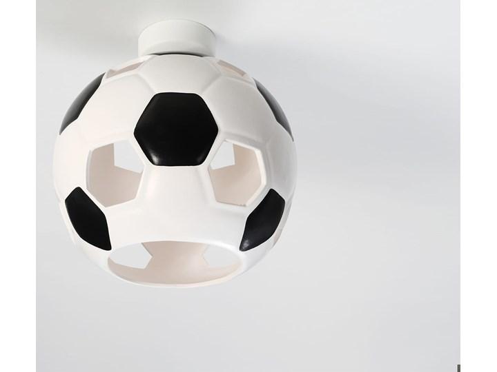 Nowoczesny Plafon  PIŁKA biało czarny  Oryginalna lampa ceramiczna sufitowa Idealna do pokoju dziecięcego i młodzieżowego Oprawa na sufit żarówka E27 Oświetlenie SOLLUX Kolor Biały