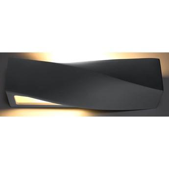 Oryginalny ciekawy kształt Nowoczesny Kinkiet SIGMA SZARA Lampa ceramiczna na ścianę Idealna do salonu,  sypialni, korytarza Oprawa żarówka E27 Oświetlenie SOLLUX