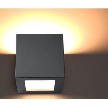Nowoczesny Kinkiet LEO SZARA Lampa ceramiczna kostka na ścianę SOLLUX