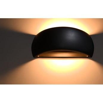 Nowoczesny Kinkiet PONTIUS CZARNA Lampa ceramiczna na ścianę LED SOLLUX