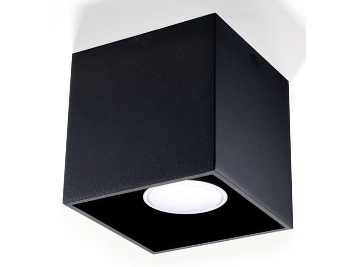 Sollux Lampa Plafon QUAD 1 czarny SL.0022 Oprawa Sufitowa Idealna do Salonu Korytarza Lampa Minimalistyczne Oświetlenie Gu10 LED Oprawa stropowa Oprawa led Oprawa halogenowa Kwadratowe Kategoria Oprawy oświetleniowe