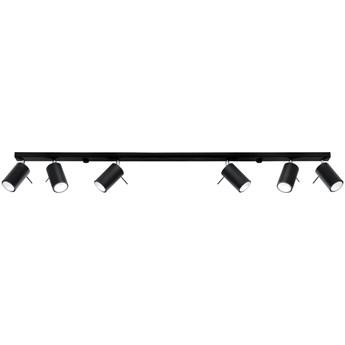 Sollux Lampa Sufitowa Plafon RING 6L Czarny SL.0334 Oprawa Sufitowa Gu10 Oświetlenie Regulowane LED