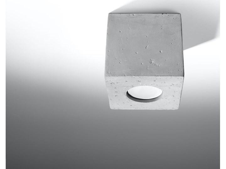 Sollux Lampa PLAFON QUAD 1 BETON Oprawa na Sufit Szary Kwadrat LEd Gu10 Oprawa led Oprawa stropowa Oprawa halogenowa Kwadratowe Kategoria Oprawy oświetleniowe