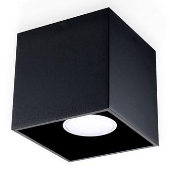 Sollux Lampa Plafon QUAD 1 czarny SL.0022 Oprawa Sufitowa Idealna do Salonu Korytarza Lampa Minimalistyczne Oświetlenie Gu10 LED